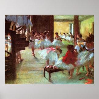 ~ Edgar Degas de la escuela del ballet Póster