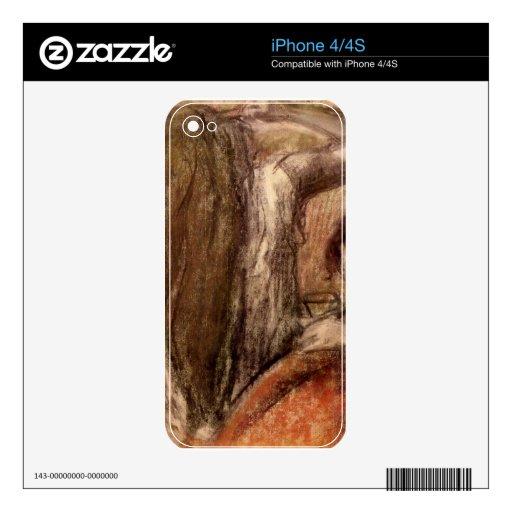 Edgar Degas - dos chicas Calcomanías Para iPhone 4S