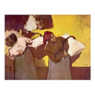 Edgar Degas - dos mujeres de la lavadora Tarjetas Postales