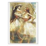 Edgar Degas dos mujeres del bailarín aviva el tutú Tarjeta De Felicitación