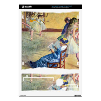 Edgar Degas - During the dance lessons - Madame Ca Decal For Xbox 360 S