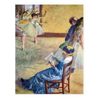 Edgar Degas - During the dance lessons Madame Card