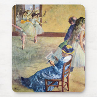 Edgar Degas - During the dance lessons Madame Card Mouse Pad