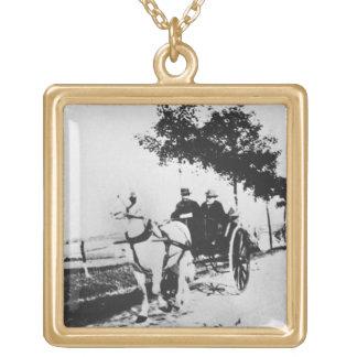 Edgar Degas | Edgar Degas and a friend Gold Plated Necklace