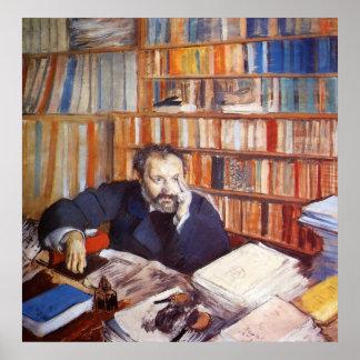 Edgar Degas - Edmond Duranty Portrait 1879 tempera Poster