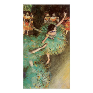 Edgar Degas el bailarín verde Póster