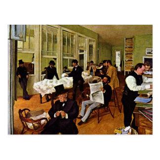 Edgar Degas - el intercambio del algodón Tarjeta Postal