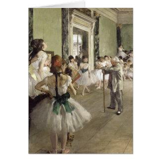 Edgar Degas el   la clase del ballet Tarjeta De Felicitación