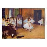 Edgar Degas - el pasillo de danza Felicitaciones