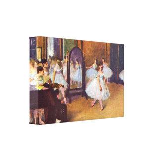 Edgar Degas - el pasillo de danza Impresión En Tela