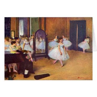 Edgar Degas - el pasillo de danza Tarjeta Pequeña
