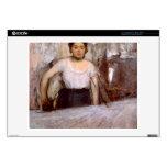 Edgar Degas - el planchar de la mujer 35,6cm Portátil Calcomanías