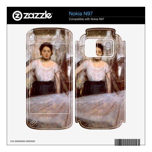 Edgar Degas - el planchar de la mujer Nokia N97 Calcomanías