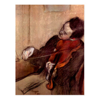 Edgar Degas - el violinista Postales