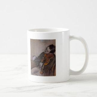 Edgar Degas: El Violist Tazas De Café