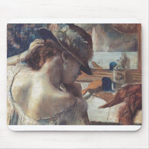 Edgar Degas - en el bailarín de papel del pastel d Alfombrilla De Ratones