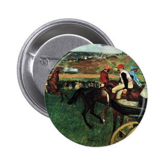 Edgar Degas, en las razas Pin Redondo De 2 Pulgadas