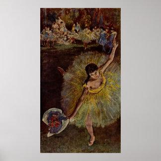 Edgar Degas - End of Arabesque 1877 Poster