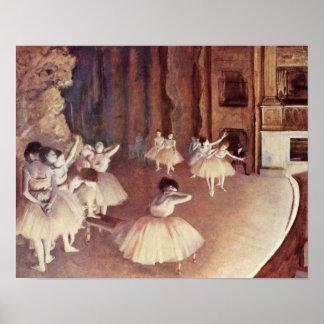 Edgar Degas - ensayo general de la etapa del balle Impresiones
