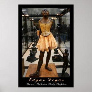 Edgar Degas: Estudio de bronce de la bailarina Posters