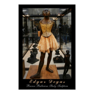 Edgar Degas: Estudio de bronce de la bailarina Póster