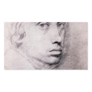 Edgar Degas: Estudio para el autorretrato Tarjetas De Visita