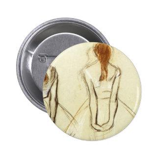 Edgar Degas: Estudio para el pequeño bailarín Pin Redondo 5 Cm