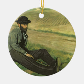 Edgar Degas | Eugene Manet Ceramic Ornament