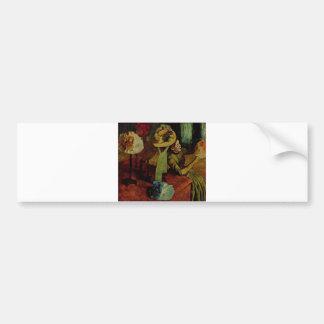 Edgar Degas - Fashion Product 1885 Woman Hat Bumper Sticker