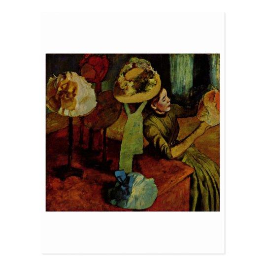 Edgar Degas - Fashion Product 1885 Woman Hat Postcard