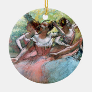 Edgar Degas | Four ballerinas on the stage Ceramic Ornament