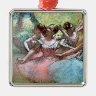 Edgar Degas   Four ballerinas on the stage Metal Ornament