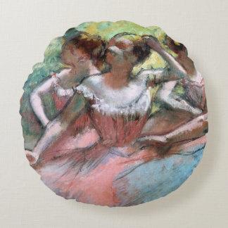 Edgar Degas | Four ballerinas on the stage Round Pillow