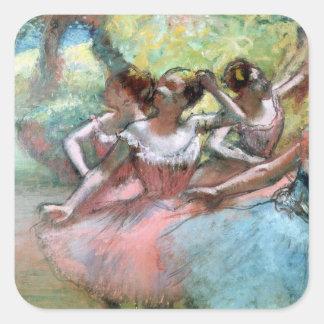 Edgar Degas | Four ballerinas on the stage Square Sticker