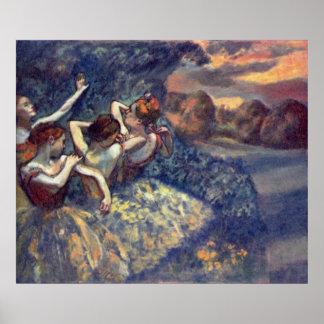 Edgar Degas - Four Dancers 1899 Ballet Canvas Poster