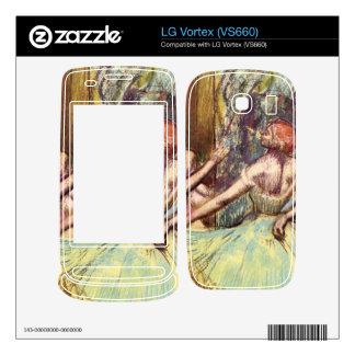Edgar Degas - Four dancers behind the scenes Skins For LG Vortex