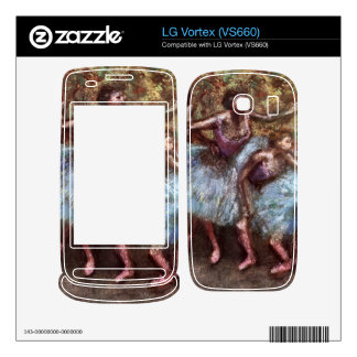 Edgar Degas - Four dancers behind the scenes Decal For LG Vortex