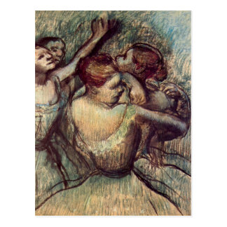 Edgar Degas - Four dancers in half figure Postcard