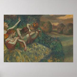 Edgar Degas - Four Dancers Poster