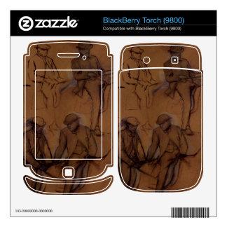 Edgar Degas - Four riders - A study Skin For BlackBerry