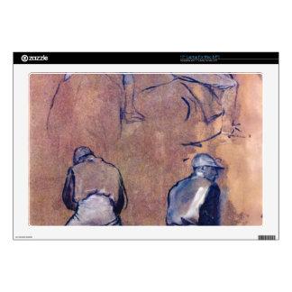 Edgar Degas - Four studies of Jockeys Skin For Laptop