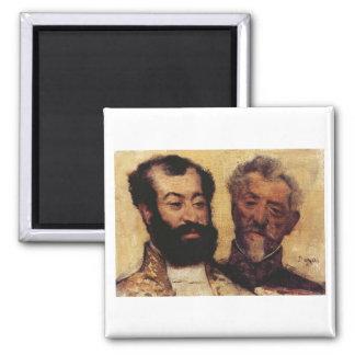 Edgar Degas - General Mellinet & Chief Rabbi 1871 Fridge Magnet