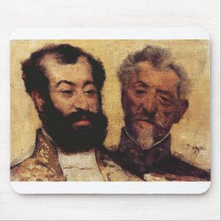 Edgar Degas - general Mellinet y principal rabino  Tapetes De Ratones