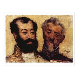 Edgar Degas - general Mellinet y principal rabino Postales