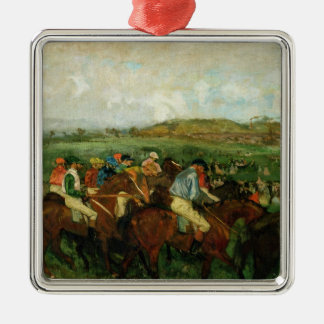 Edgar Degas | Gentlemen race, Before the Departure Metal Ornament
