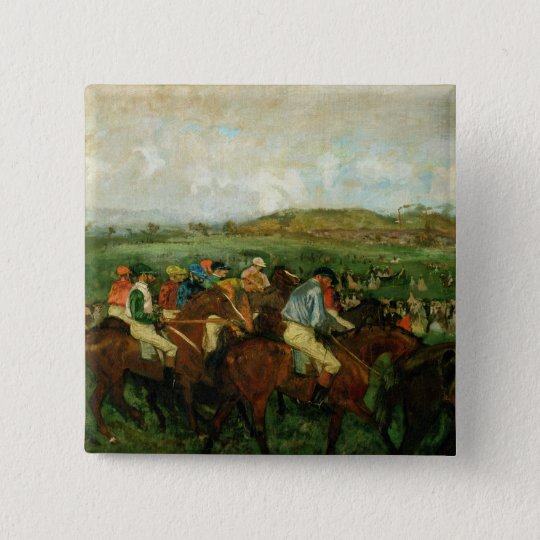 Edgar Degas | Gentlemen race, Before the Departure Pinback Button