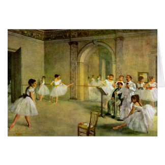 Edgar Degas - Hall of the Opera Ballet in the Rue Stationery Note Card