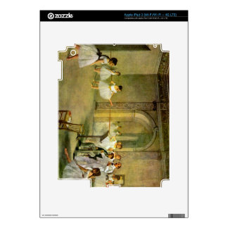 Edgar Degas - Hall of the Opera Ballet in the Rue iPad 3 Decals