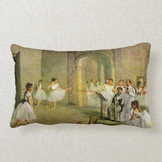 Edgar Degas - Hall of the Opera Ballet in the Rue Lumbar Pillow
