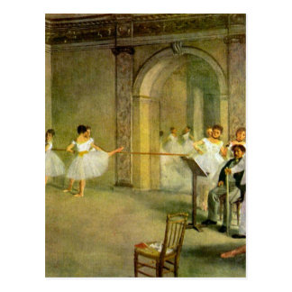 Edgar Degas - Hall of the Opera Ballet in the Rue Postcard